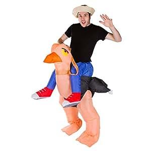 Costume de d駵isement gonflable pour adultes (Autruche) - taille unique