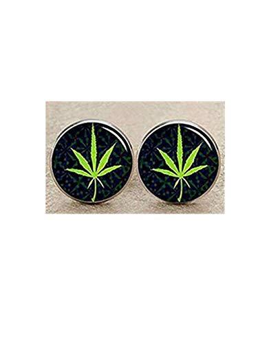 Rasta Feuille de cannabis Boutons de manchette d'image, boutons de manchette, homme Boutons de manchette