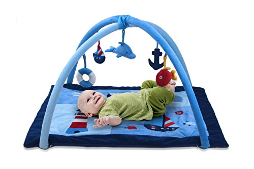 Lil' Jumbl Baby Play Gym Mat | Sense Stimulator & Muscle Developer (Blue)