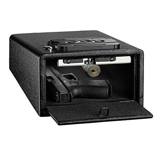 WTY Kombinationscode Box Pistole Mechanische Safes Tragbare Massivstahl-Sicherheitsschlüsselschloss-Safes für Geld Wertsachen Schmuck Pistole Box -