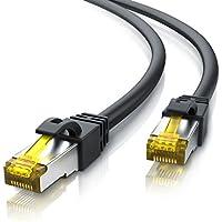 10m Ethernet Câble Cat 7 - Gigabit LAN Réseau 10Gbps - 2X fiches RJ45 - S FTP Blindage - PC Switch Router Modem TV Box Boîtiers ADSL Consoles de Jeux Vidéo - Noir