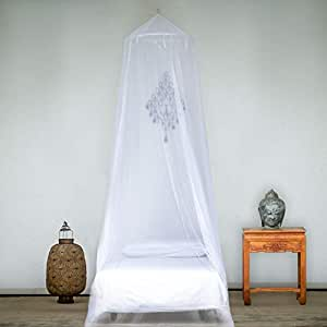 EVEN Naturals MOSQU ITO NET for Bed, for Single, Twin to Queen Size, Bed Canopy Curtains, LARGE White Mosquito Netting with Opening, Easy Installation, Carry Bag
