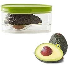 Outgeek Aguacate Almacenamiento PláStico Creativo Bien Sellado Aguacate Envase Fruta Contenedor
