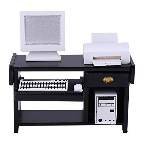 Zouminy Muebles Oficina Miniatura Juego Juguete Impresora