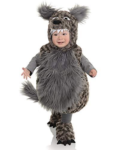 Horror-Shop Wolf Kostüm für Kleinkinder M (Wolf Kostüm Für Kleinkind)