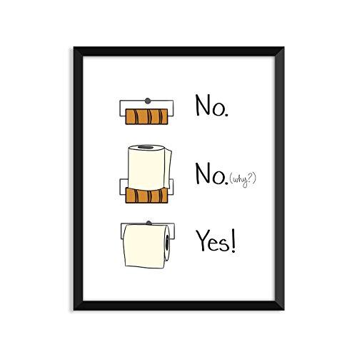 Serif Design Studios Toilettenpapier Bathroom Rules, Inspiration Zitat, Lustig, Erwachsene, Minimalistische Poster, Home Decor, College Wohnheim Zimmerdekoration, Wand-Kunst 4x6 Art Print (Poster College-wohnheim)