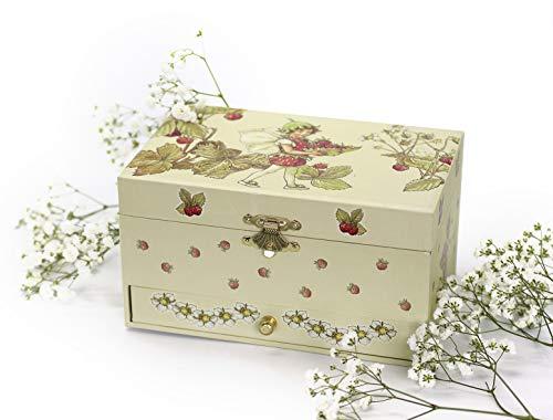 """Trousselier 60615 – Spieluhr """"TR Schublade XL Strawberry"""" (Spieldosen, Musikdosen, Spieluhren) das ideale Geschenk - 6"""