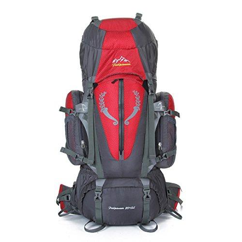 85L Im Freien Bergsteigen Tasche Verschlüsselung Nylon Wasserdicht Klettern Tasche Red