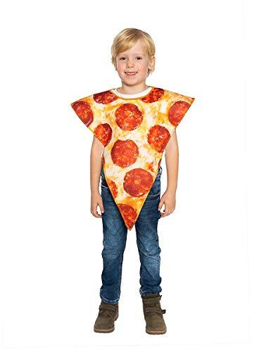 Stück Kostüm Pizza Kind - Maskworld Pizza-Stück Karneval Fun-Kinderkostüm
