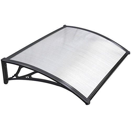 Popamazing Outdoor DIY Door Window Garden Canopy Patio Porch Awning Shelter Cover (Black) Test