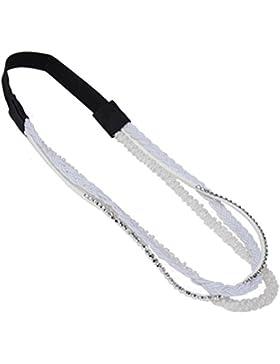 JUSTFOX - 3 Design Haarband Geflochten Paillette und Nieten in zwei verschiedenen Farben