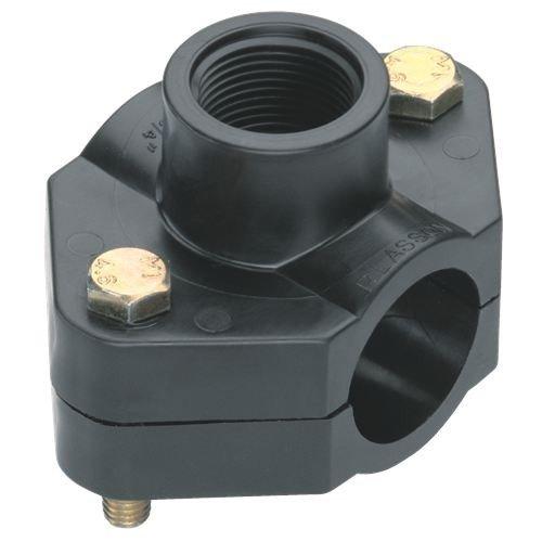 Gardena 272820 Collier de serrage d'arrosage enterré 25 mm, Noir