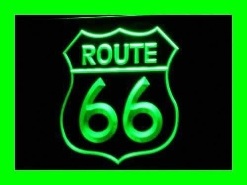 Enseigne Lumineuse i371-g Historic Route 66 Mother Road Neon Light Sign NR
