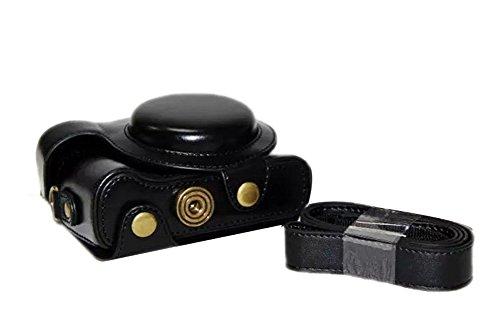 Zenness PU-Leder-Kameratasche, Cover Tasche für Sony Cyber-shot DSC-HX60 HX50 HX30 kompakte Digitalkamera (Schwarz)