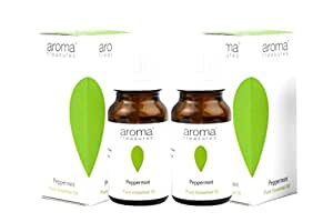 Aroma Treasures Peppermint pure Essential Oil Pack of 2 (10+2ml)