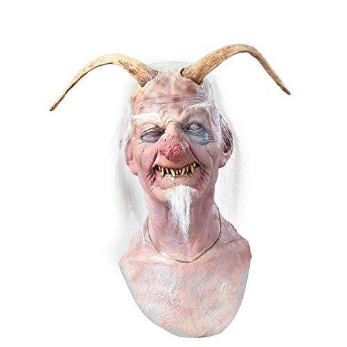 Schmutziger Ol Teufel Maske Halloween Kostueme Maske Gesicht Maske Over-the-Head-Maske Kostuem Stuetze Scary Creepy Schreckliche Maske Latex Maske fuer Maskerade Make-up Party