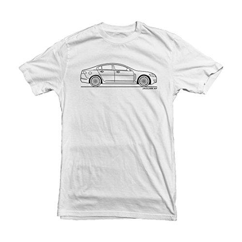 jaguar-xf-outline-mens-car-t-shirt-size-xxl-white
