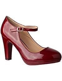 a458fe783aa461 Suchergebnis auf Amazon.de für  Schuhe Lack Pumps - Rot   Damen ...
