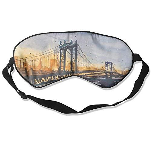 100% Silk Sleep Mask Eye Mask Golden Gate Bridge Soft Eyeshade Blindfold With Adjustable Strap For Men Women And Kids For Sleeping Travel Work Naps Blocks Light E5 -