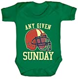 ShirtStreet American Football Gruppen Fan Strampler Bio Baumwoll Baby Body kurzarm Jungen Mädchen Any Given Sunday 2, Größe: 12-18 Monate,Kelly Green