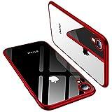 TORRAS Crystal Clear Kompatibel mit iPhone XR Hülle, Transparent [Anti-Gelb] Handyhülle Schutz Weiche Silikon TPU Bumper Case Scratchproof Durchsichtige Schutzhülle für 6,1 Zoll iPhone XR - Rot