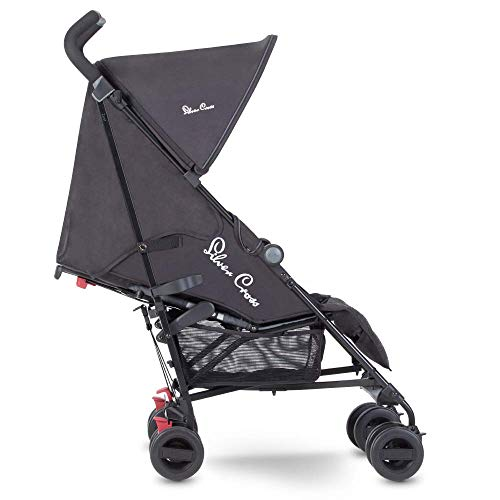 Silver Cross Zest Stroller, Compact and Lightweight Pushchair, Powder Black