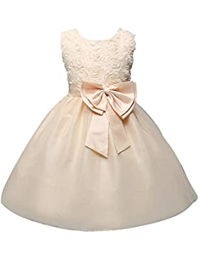 Free Fisher Vestido Elegante de Princesa para Niña de Fiesta con Flores Bowknot