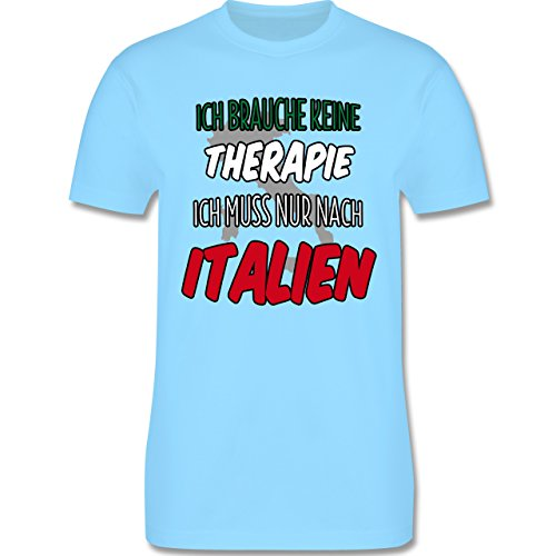Länder - Ich brauche keine Therapie ich muss nur nach Italien - Herren Premium T-Shirt Hellblau