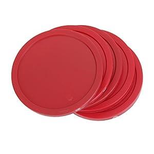 4 pcs 82mm Juguetes De Mesa Aire Hockey En Forma De Disco – Rojo
