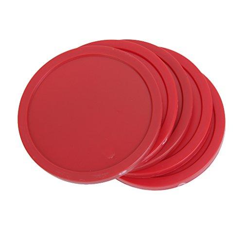 4 pcs 82mm Juguetes De Mesa Aire Hockey En Forma De Disco - Rojo