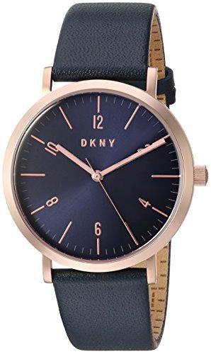 DKNY Classic Femme 36mm Bracelet Cuir Bleu Quartz Analogique Montre NY2614
