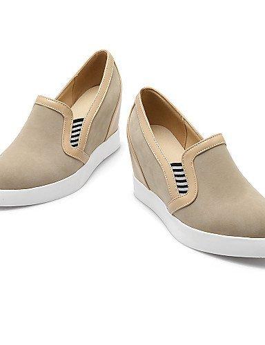 Zapatos De Mujer Shangyi - Mocasines - Oficina Y Trabajo / Formal - Cuñas / Puntera Redondeada - Cuña - Piel Sintética - Negro / Rojo / Beige Negro