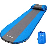 SGODDE Self Inflating Sleeping Pad, Inflatable Sleeping Mat,Compact & Waterproof Blue Camping Mattress,Durable & Folding Inflating Bed for Outdoor Backpacking,Camping,Hiking