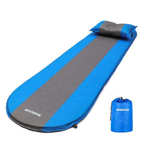 SGODDE Aufblasbare Matratzen, Tragbare Selbstaufblasbare Luftmatratze, Ultraleichte 3 cm Aufblasbare Isomatten, Wasserabweisend und Rutschfest Schlafmatte, Luftbett für Camping,Wandern,Outdoor