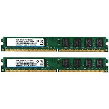 BPX Kit de 4 GB (2 x 2 GB) 2RX8 DDR2 667MHz DIMM PC2-5400 CL5