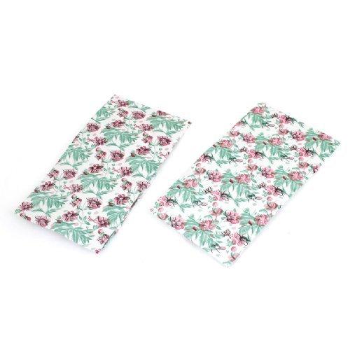 Preisvergleich Produktbild Flower Leaf Prints Shower Cap White 2 Pcs Pink Green