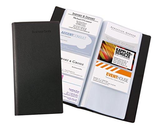 Sigel VZ172 Visitenkarten-Mappe schwarz, für 192 Karten