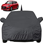 Autofact Car Body Cover for Maruti Swift (2018/2019) with Mirror and Antenna Pocket (Light Weight, Triple Stit