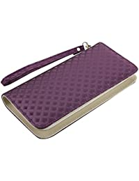 Nuo Peng Multi-purpose Clutch Wallets, Wristlet Clutch With Change Color Feature Fit For All Cellphones (Purple)