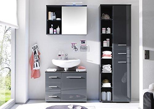 Spiegelschrank grau – 69 cm - 2