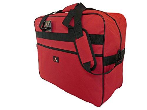 Bagaglio a mano da cabina – borsa adatta per volare con ryanair e easyjet – borsa a mano pieghevole da viaggio in 3 colori, con tracolla - 50cm x 40 x 20 leggera 0.6kg 40l – roamlite rl56k rossa