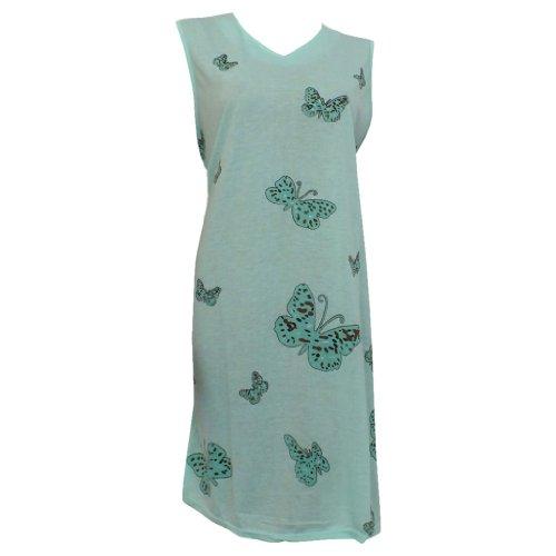 Lavazio - Chemise de nuit -  - Sans manche Femme Vert - Mintgreen