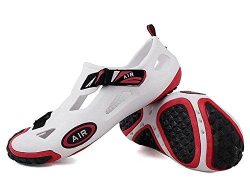 GLTER Männer Breathable Casual Schuhe Clogs Sommer Strand Schuhe Reise Schuhe Loafers Sandalen white red