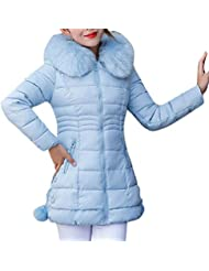 TWBB Damen Winterjacke Hoodie Wintermantel Einfarbig Daunenjacke Jacke Outwear Frauen Winter Warm Daunenmantel Solide Lässig Dicker Winter Slim Down Jacke Mantel