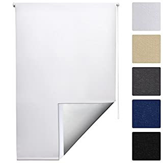 Sol Royal SolReflect T42 Store Enrouleur Occultant et Isolant Thermique Montage Simple sans vis 50x160 cm Blanc