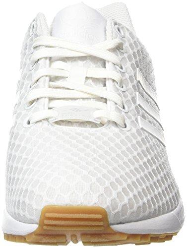 Adidas Zx Flux - Sneakers Basses - Mixte Adulte Blanc (Footwear White/Footwear White/Gum)