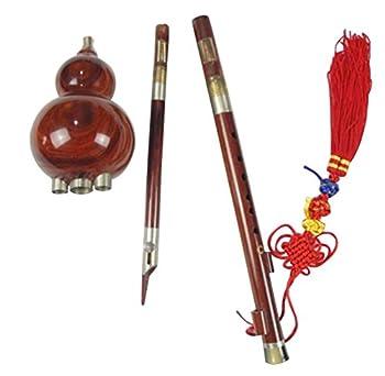 Handgeschnitzte Standard Hulusi – Blasinstrument Chinesische Flöte #110 6