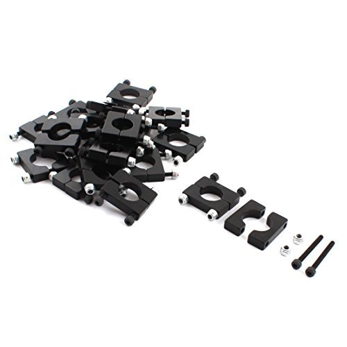 20Pcs 12mm Durchmesser Aluminiumklemmplatten-Klipp für Carbon-Faser-Rohr RC Acromodelle -