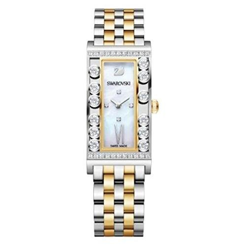 Sale lovely crystals square/yellow gold tone orologio