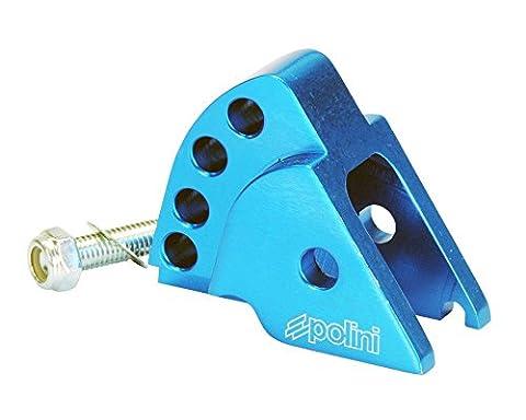 POLINI rehausse CNC 4trous bleu pour MBK Booster 1002T, Evolis 50, Fizz 50, flipper 50